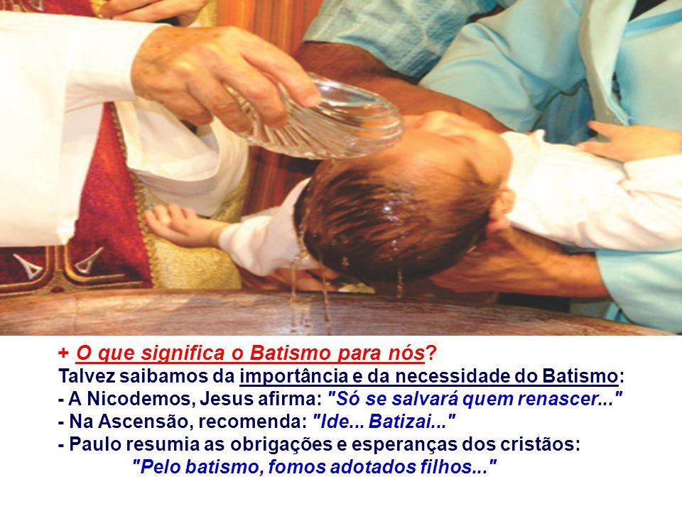 + O que significa o Batismo para nós
