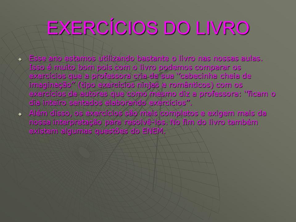 EXERCÍCIOS DO LIVRO