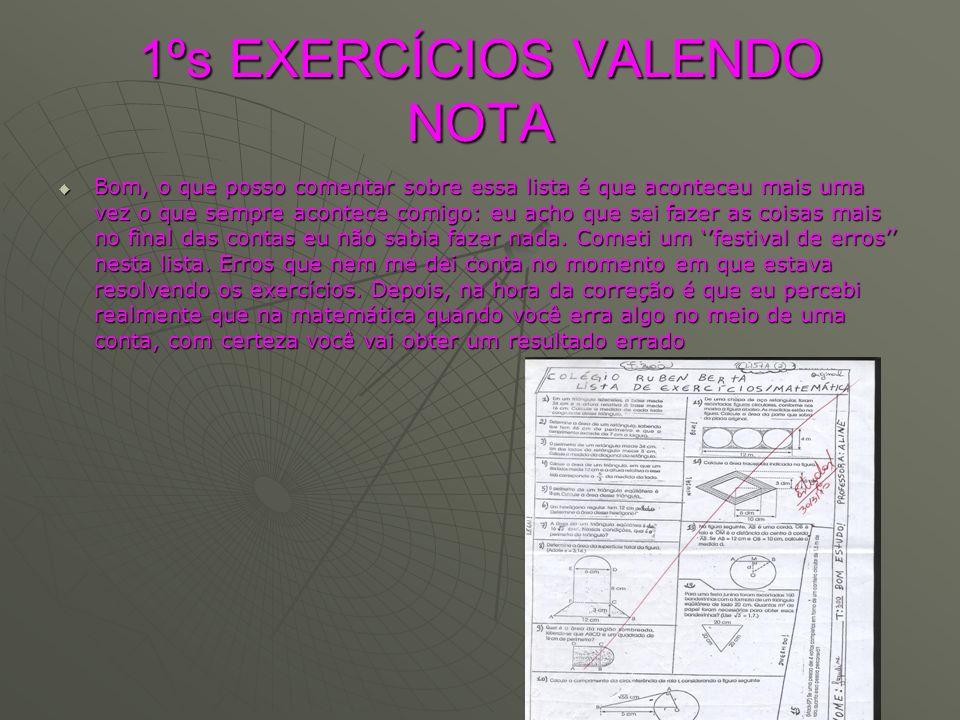 1ºs EXERCÍCIOS VALENDO NOTA