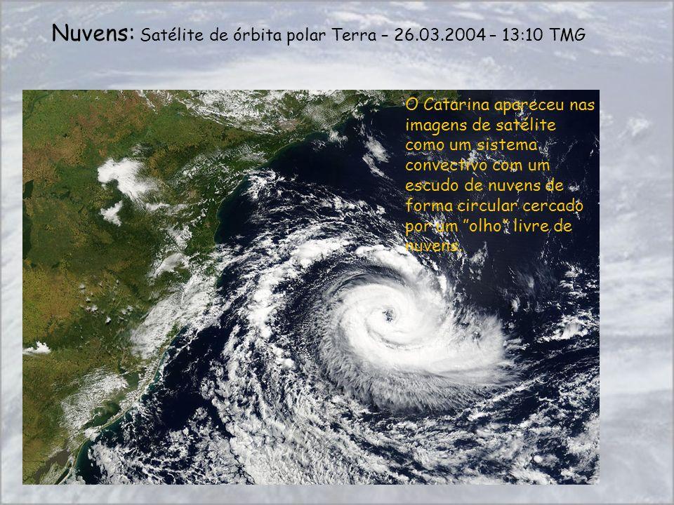 Nuvens: Satélite de órbita polar Terra – 26.03.2004 – 13:10 TMG