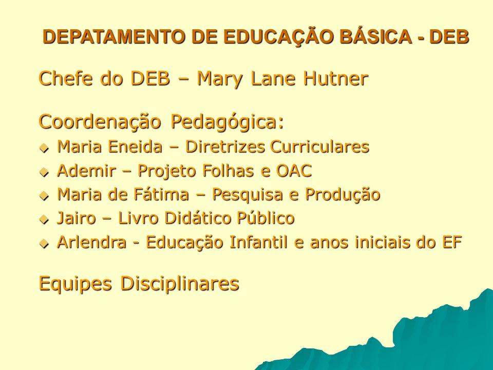 DEPATAMENTO DE EDUCAÇÃO BÁSICA - DEB