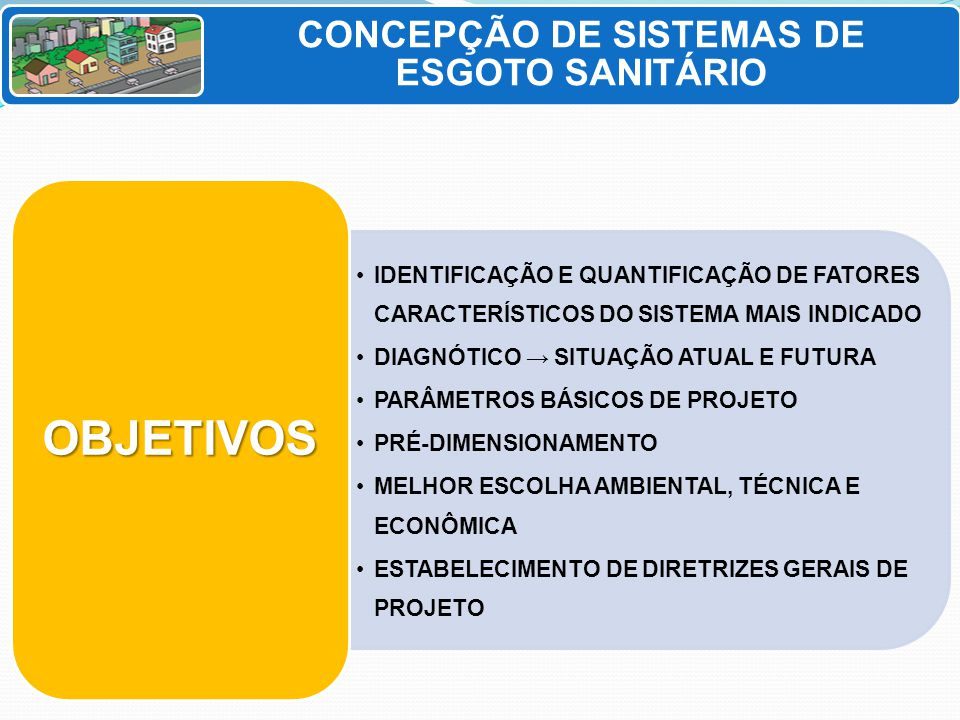 CONCEPÇÃO DE SISTEMAS DE ESGOTO SANITÁRIO