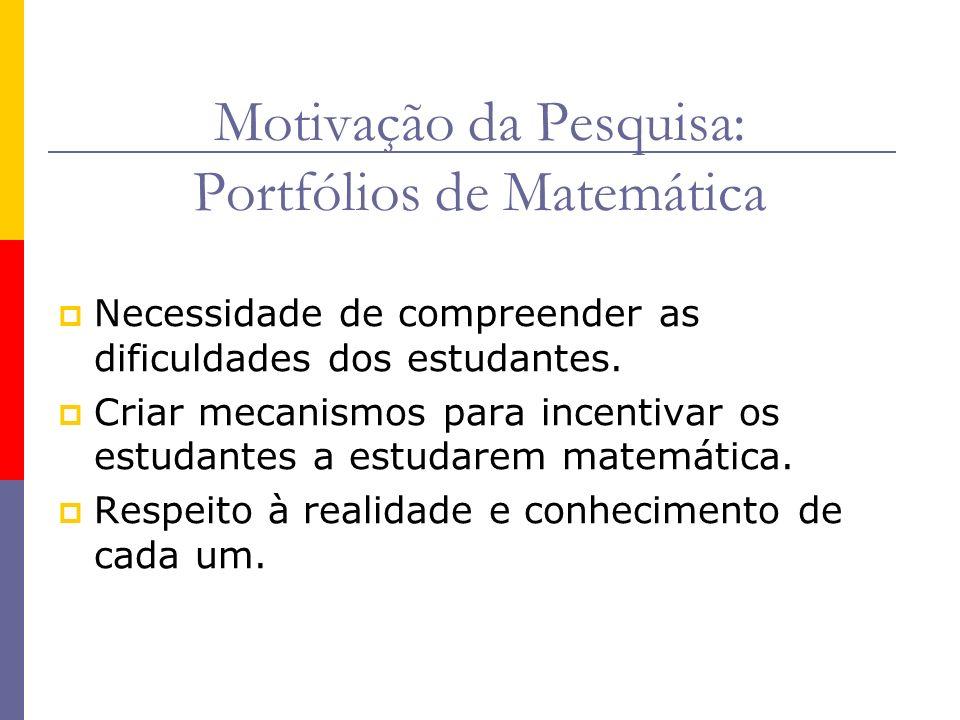 Motivação da Pesquisa: Portfólios de Matemática