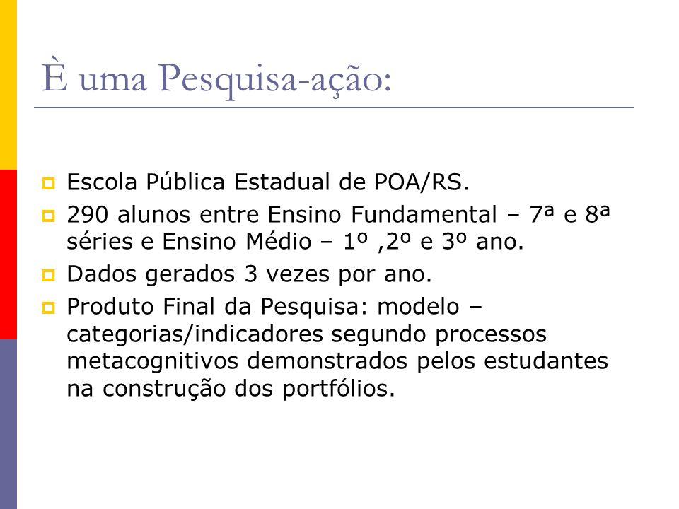 È uma Pesquisa-ação: Escola Pública Estadual de POA/RS.