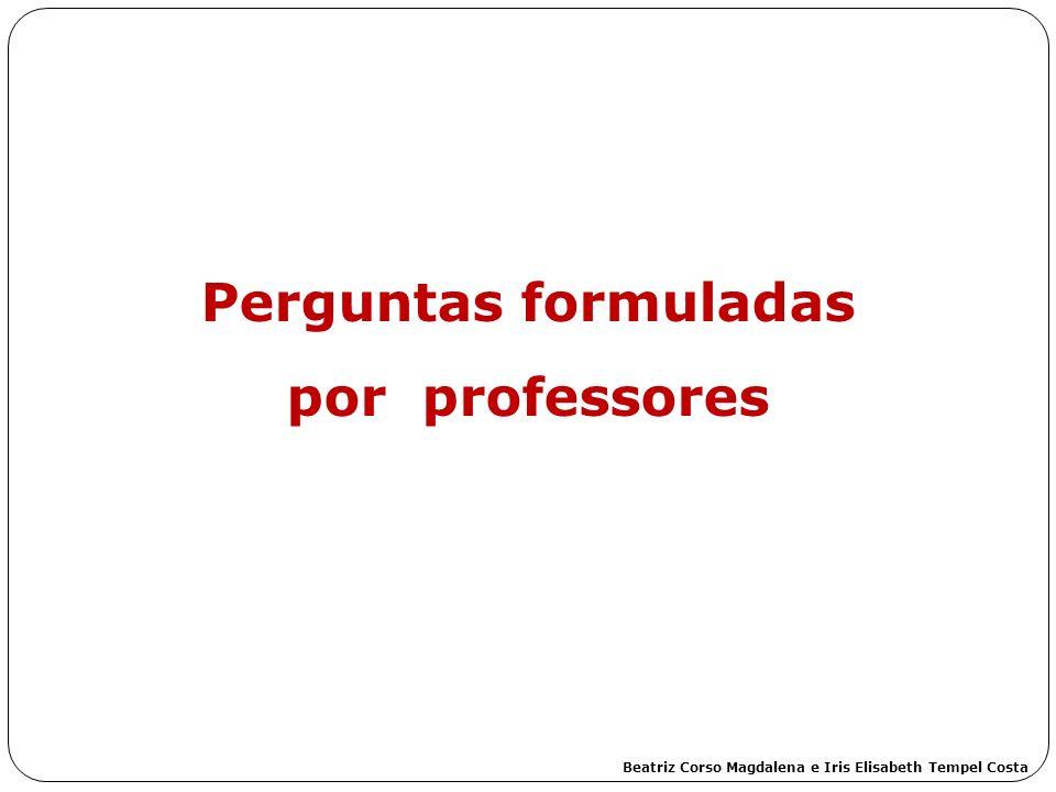Perguntas formuladas por professores