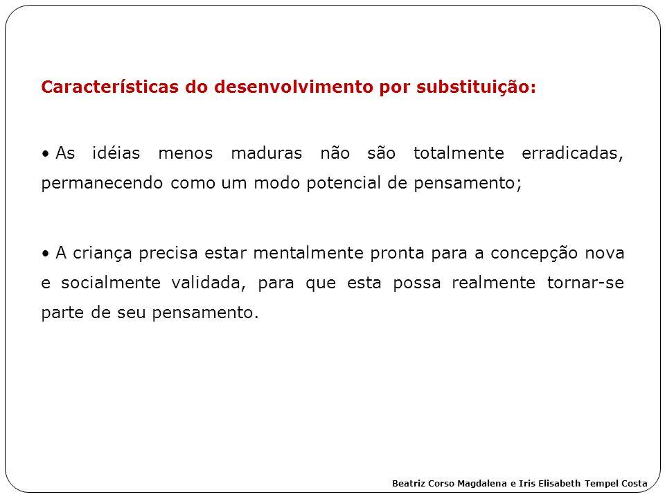Características do desenvolvimento por substituição: