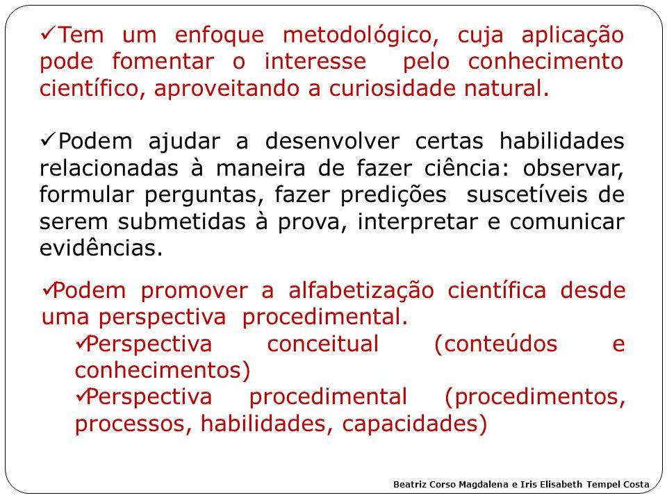 Perspectiva conceitual (conteúdos e conhecimentos)