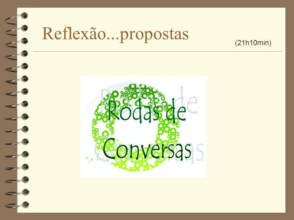 Reflexão...propostas (21h10min)