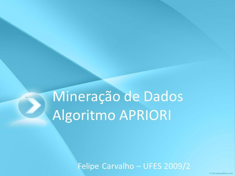 Mineração de Dados Algoritmo APRIORI