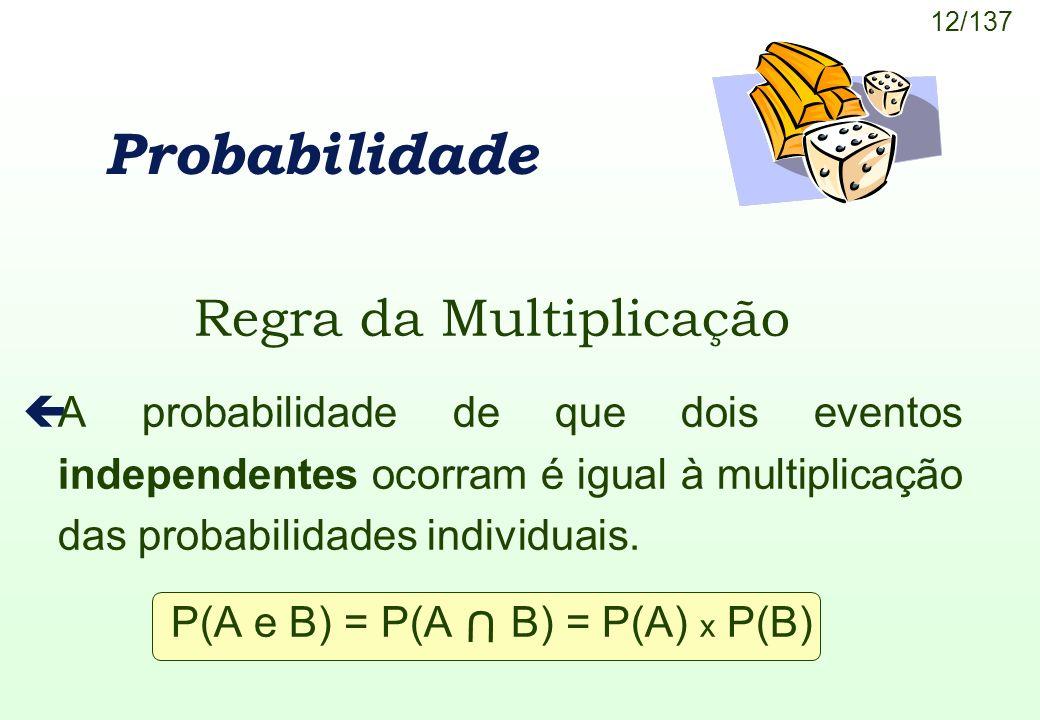 Probabilidade Regra da Multiplicação