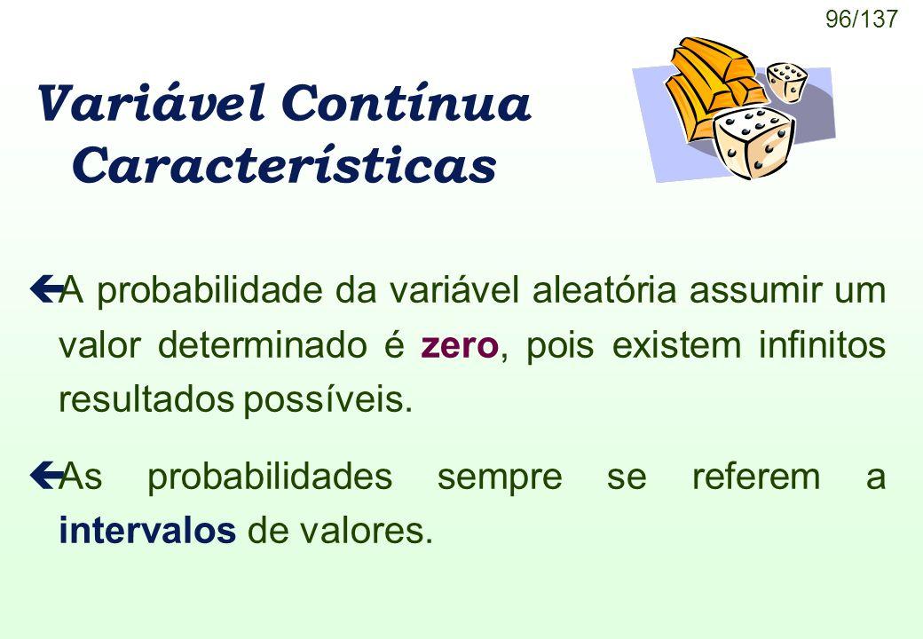 Variável Contínua Características
