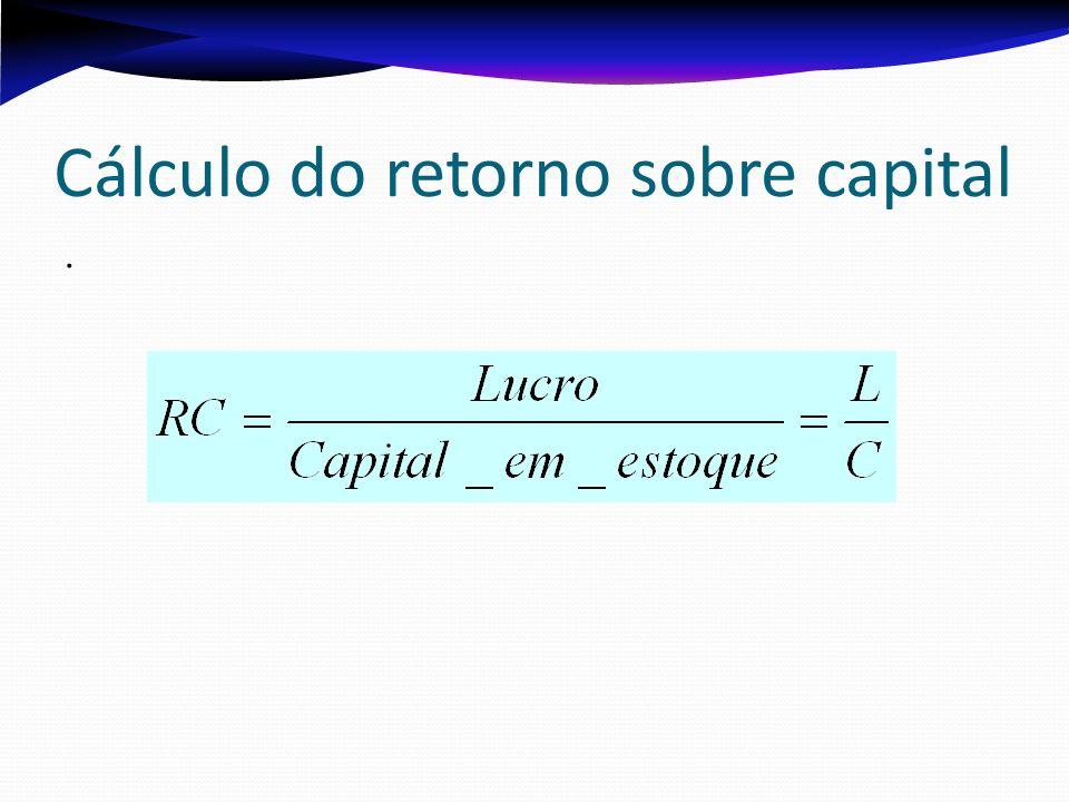 Cálculo do retorno sobre capital