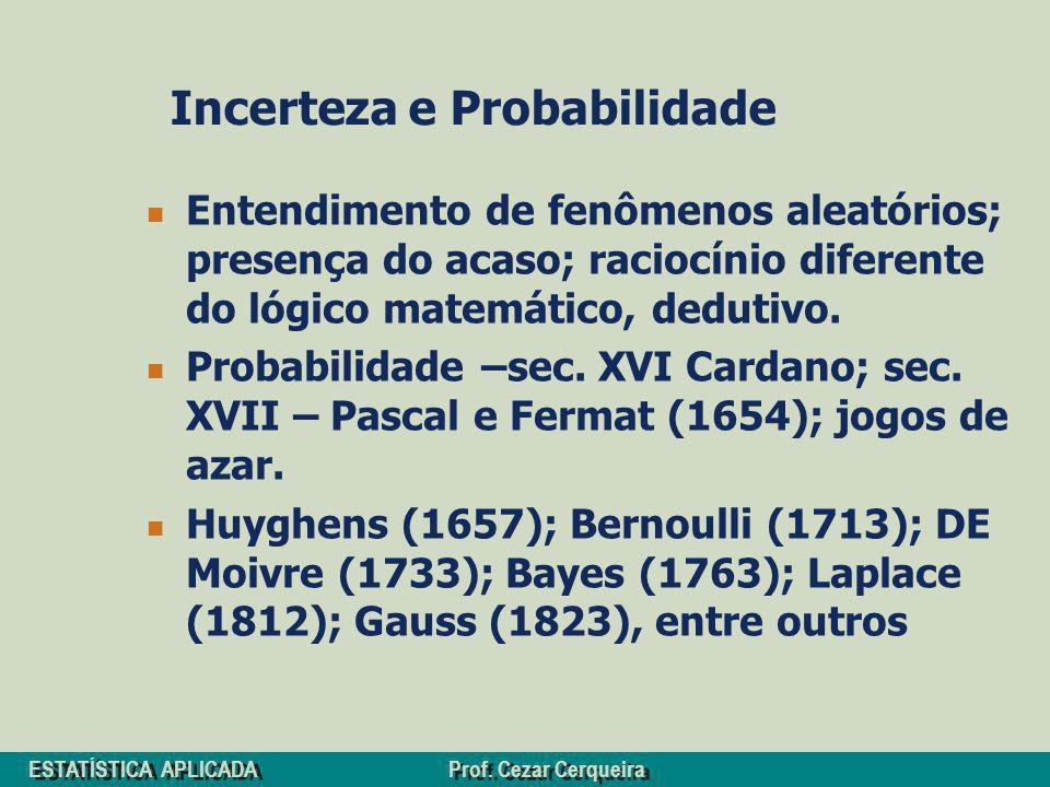 Incerteza e Probabilidade
