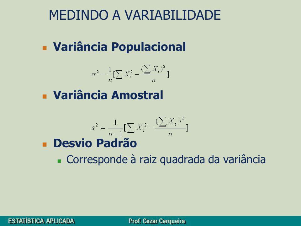MEDINDO A VARIABILIDADE