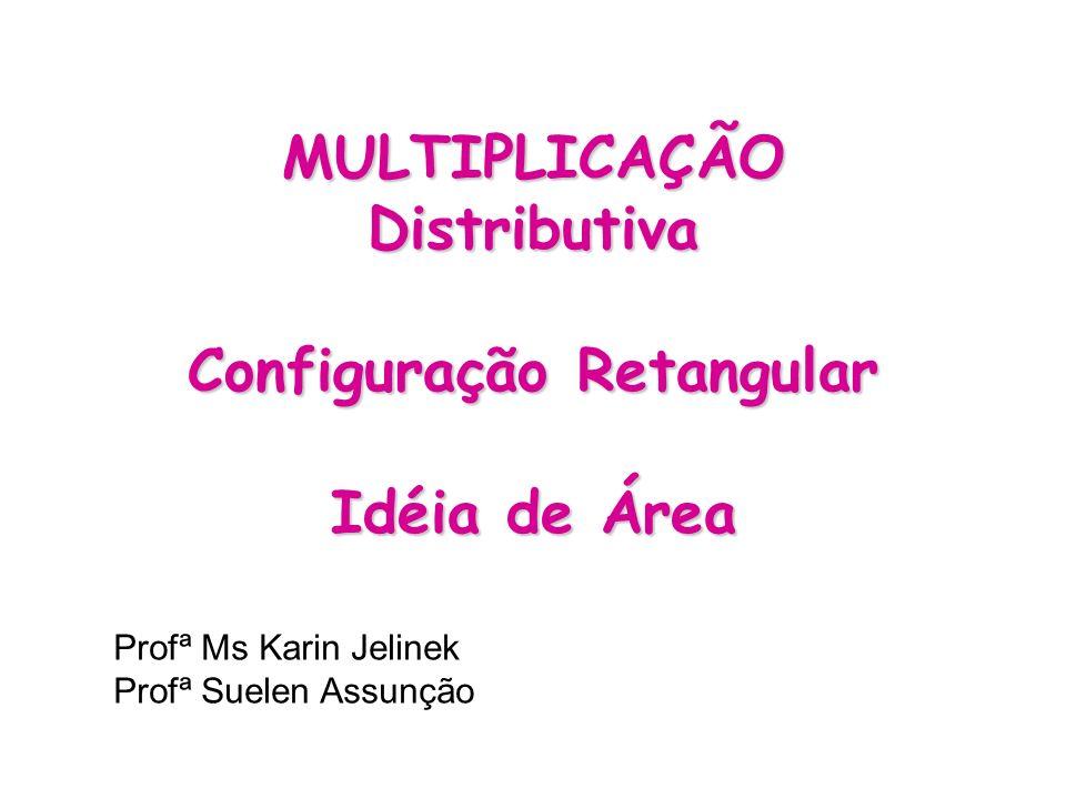 MULTIPLICAÇÃO Distributiva Configuração Retangular Idéia de Área