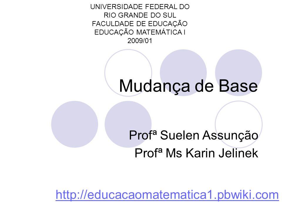 Profª Suelen Assunção Profª Ms Karin Jelinek