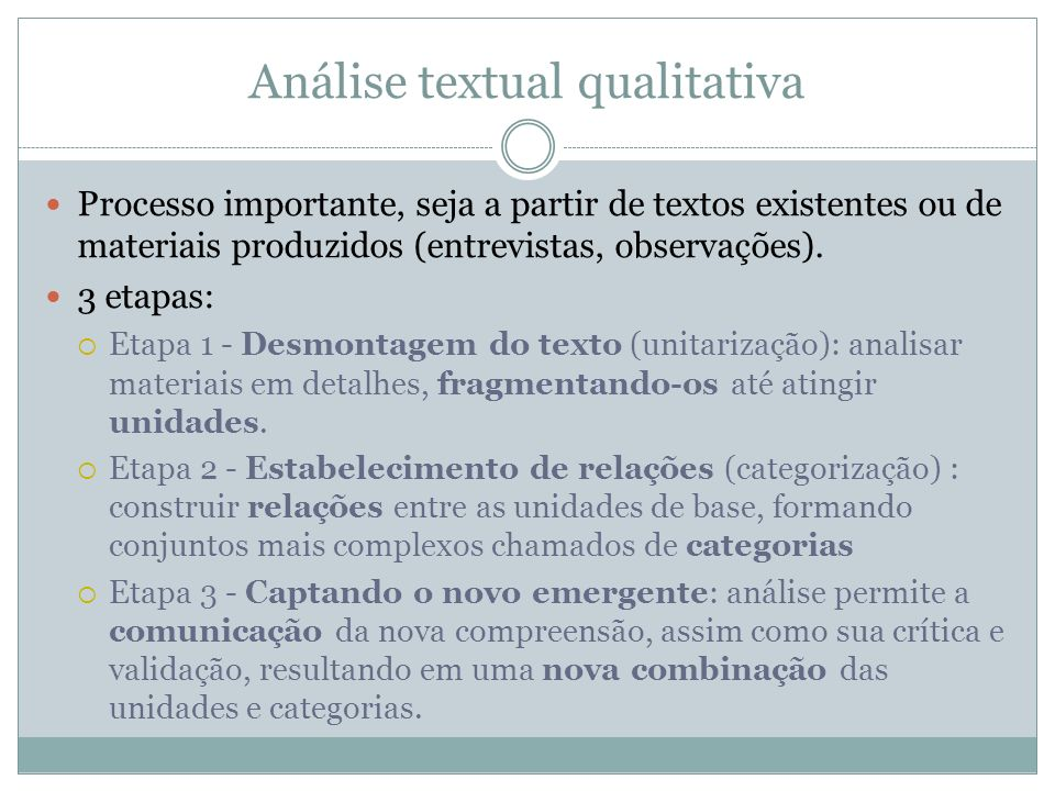 Análise textual qualitativa