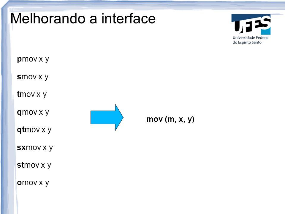 Melhorando a interface