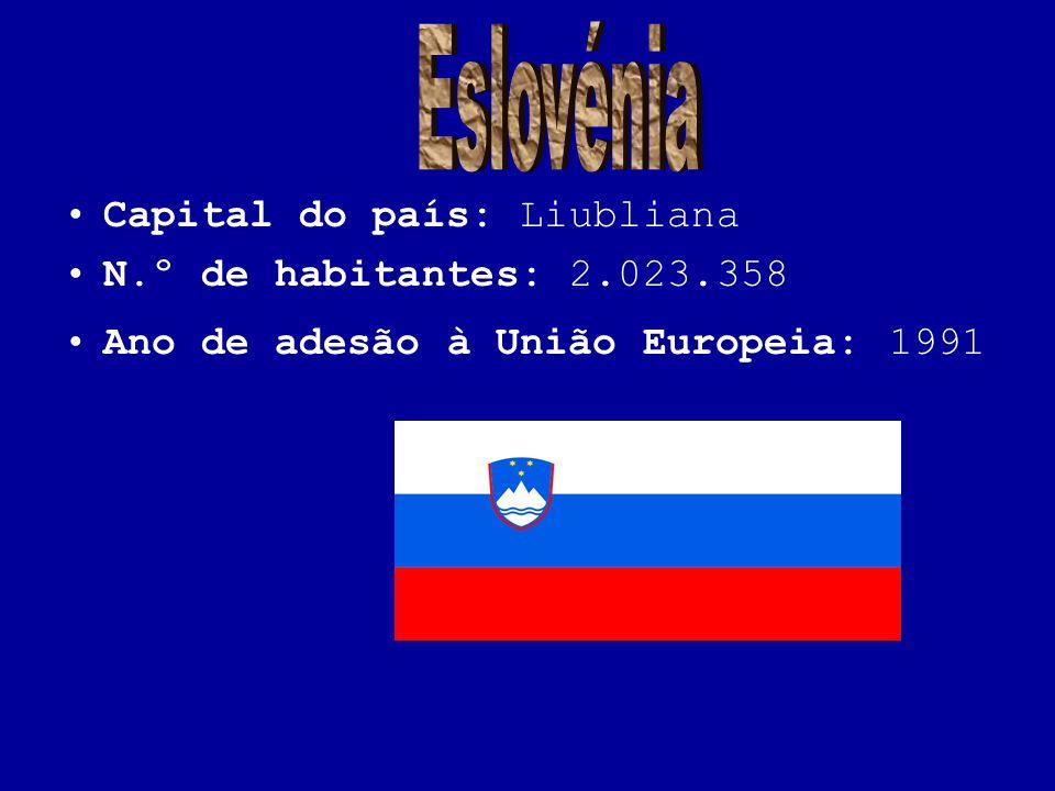 Eslovénia Capital do país: Liubliana N.º de habitantes: 2.023.358