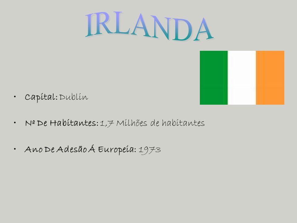 IRLANDA Capital: Dublin Nº De Habitantes: 1,7 Milhões de habitantes