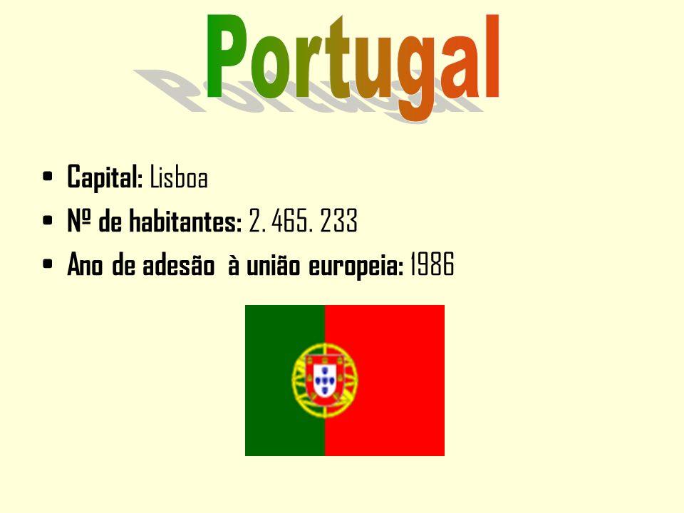 Portugal Capital: Lisboa Nº de habitantes: 2. 465. 233