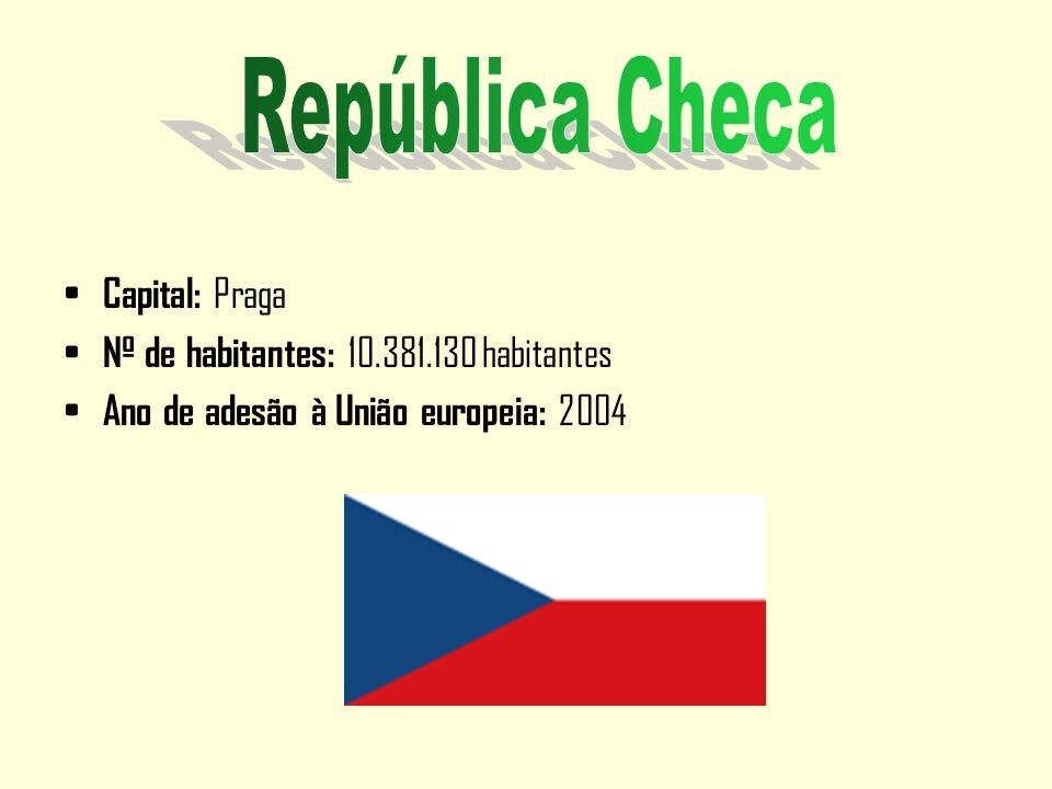 República Checa Capital: Praga Nº de habitantes: 10.381.130 habitantes