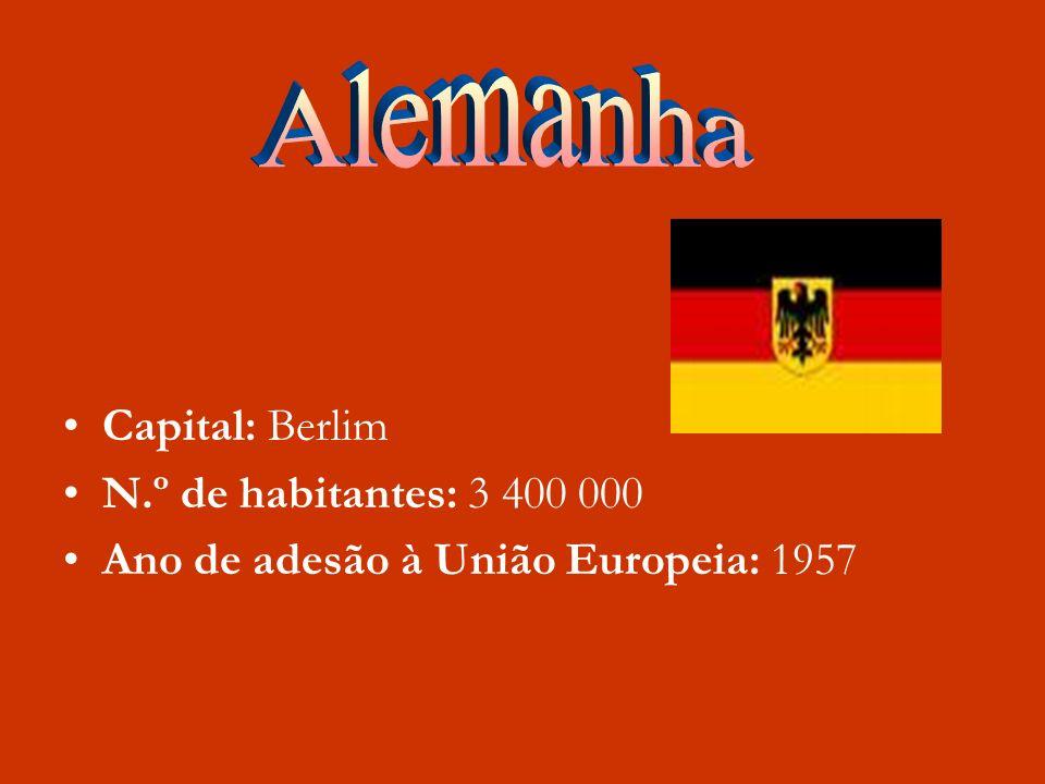 Alemanha Capital: Berlim N.º de habitantes: 3 400 000