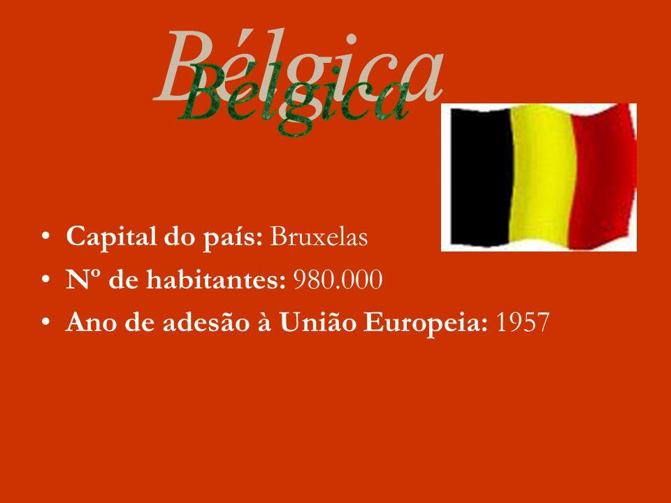 Bélgica Capital do país: Bruxelas Nº de habitantes: 980.000