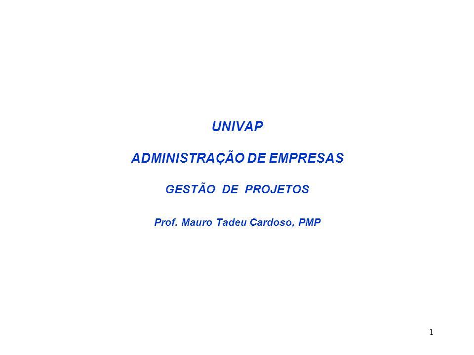 UNIVAP ADMINISTRAÇÃO DE EMPRESAS GESTÃO DE PROJETOS