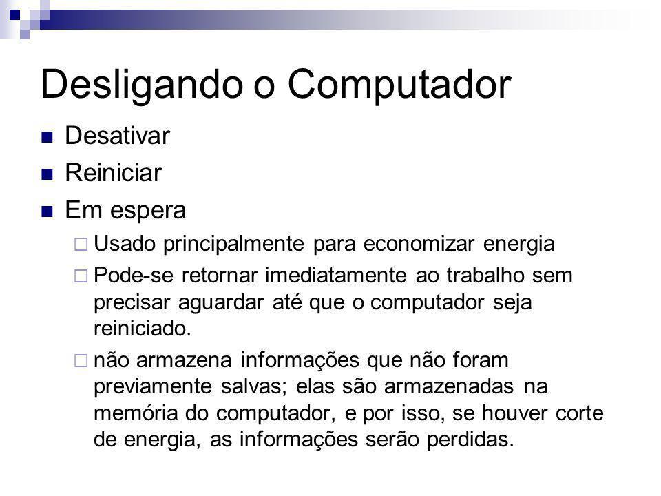 Desligando o Computador