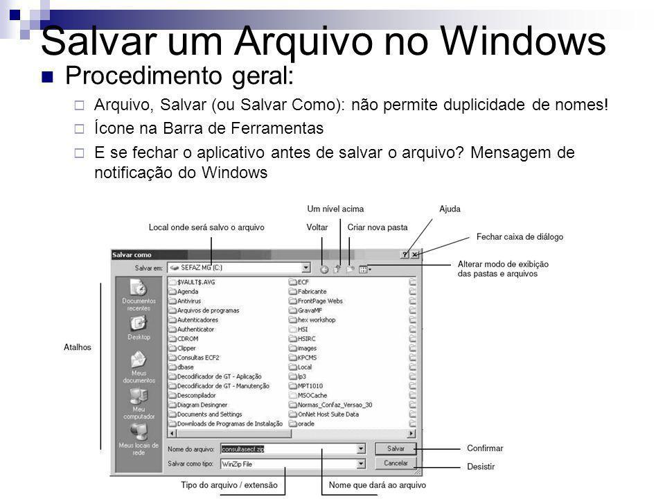 Salvar um Arquivo no Windows