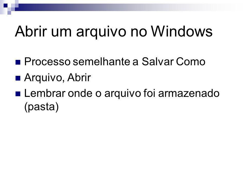 Abrir um arquivo no Windows