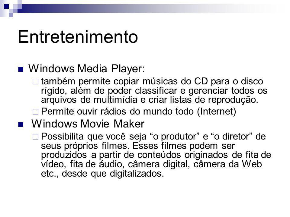 Entretenimento Windows Media Player: Windows Movie Maker