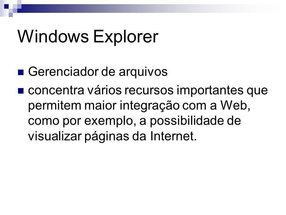 Windows Explorer Gerenciador de arquivos