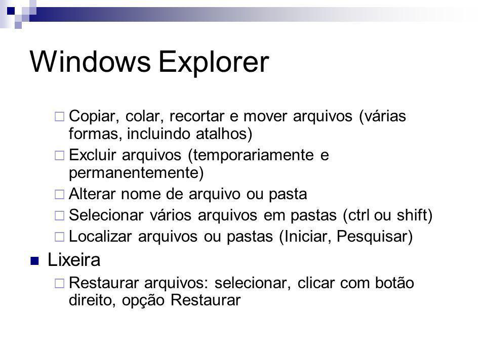 Windows Explorer Lixeira