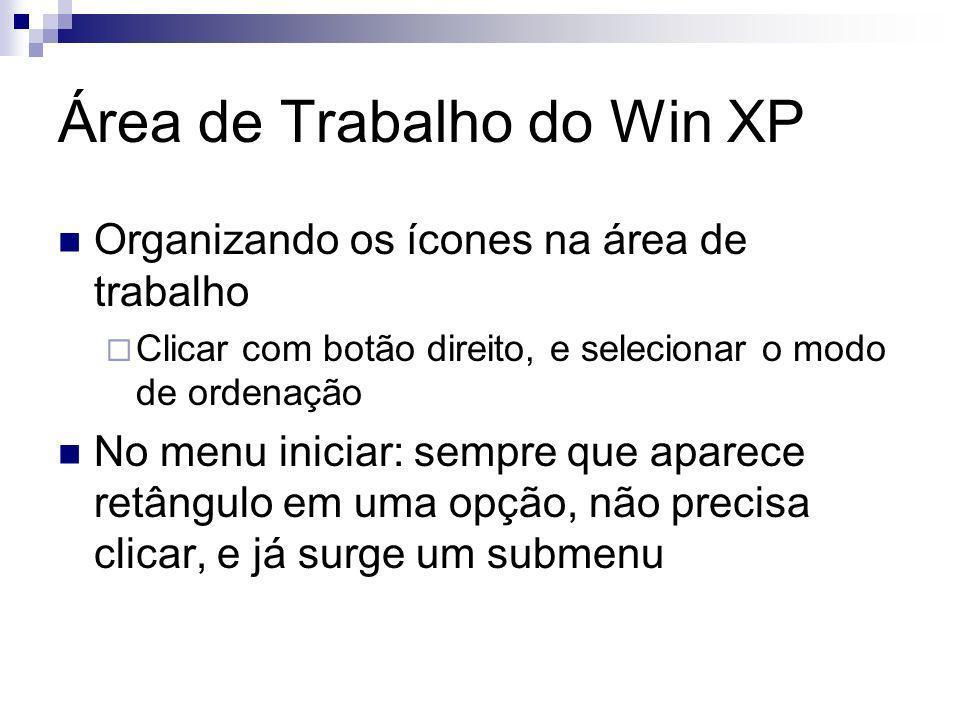 Área de Trabalho do Win XP