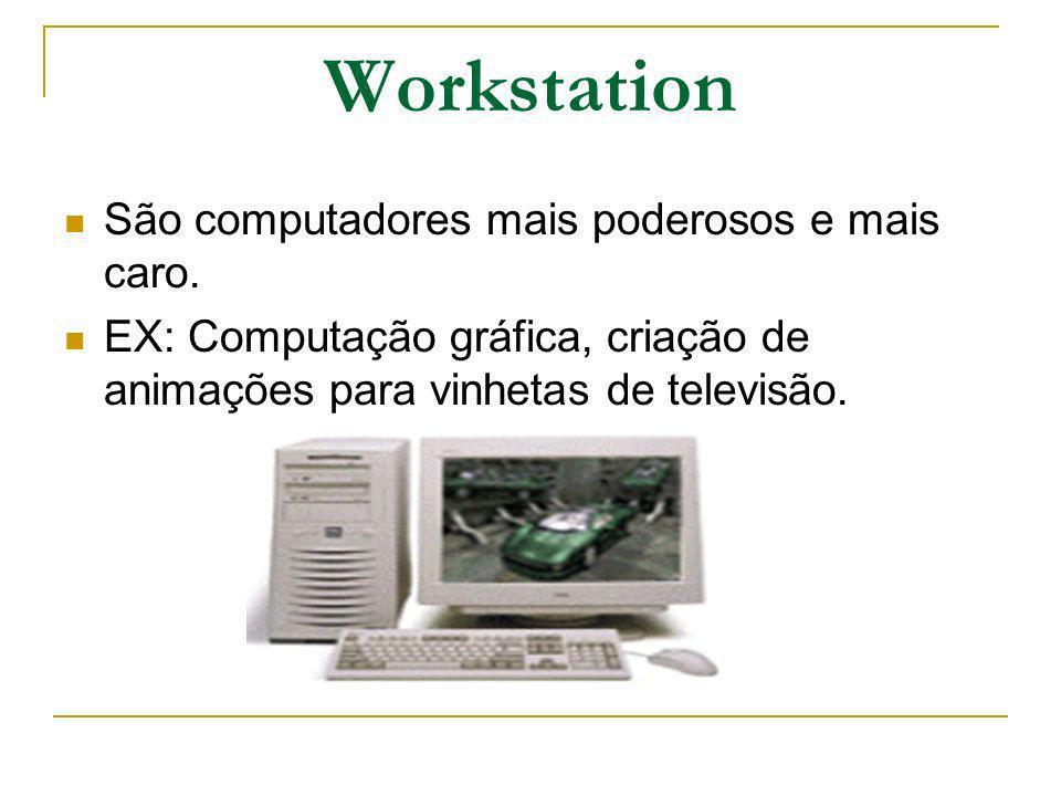Workstation São computadores mais poderosos e mais caro.