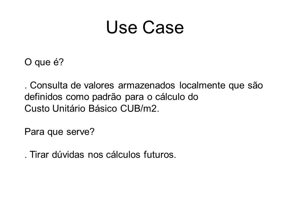 Use Case O que é . Consulta de valores armazenados localmente que são