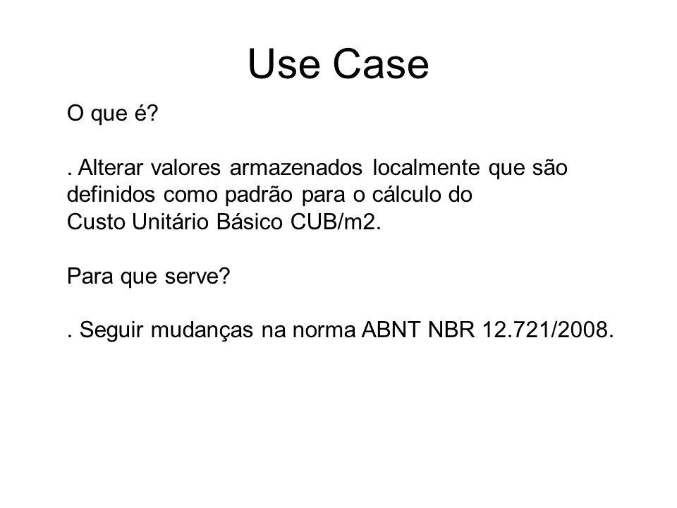 Use Case O que é . Alterar valores armazenados localmente que são