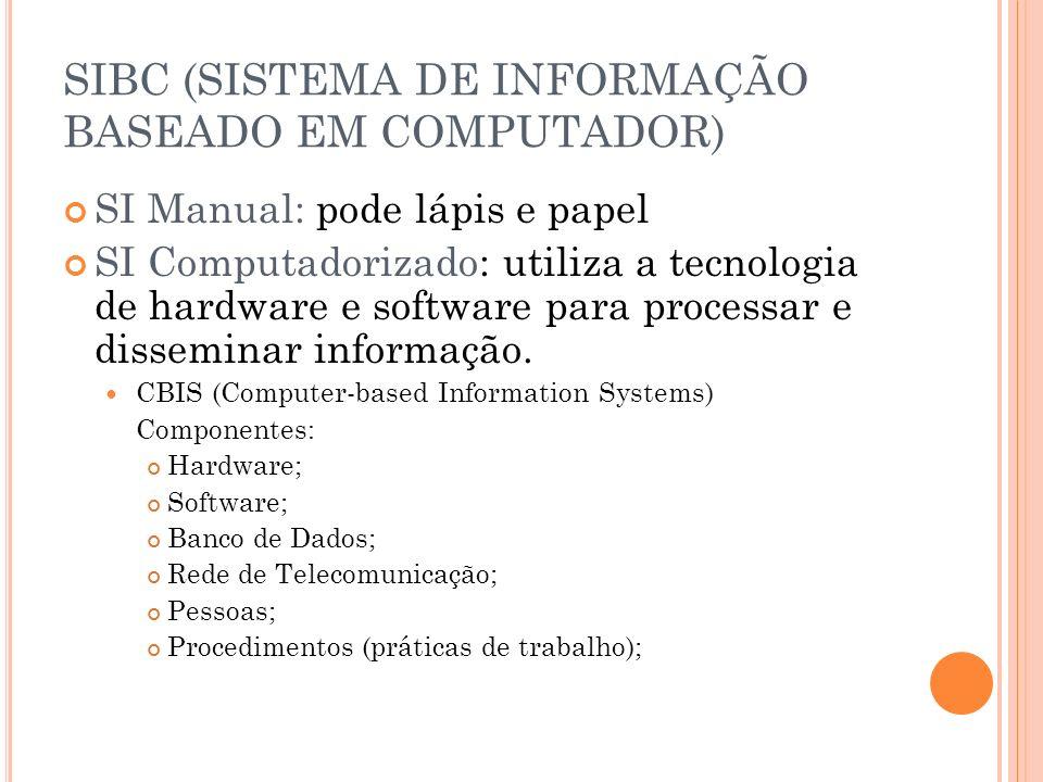SIBC (SISTEMA DE INFORMAÇÃO BASEADO EM COMPUTADOR)