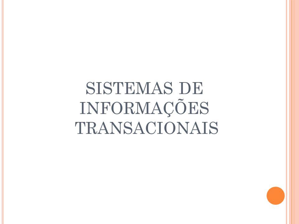 SISTEMAS DE INFORMAÇÕES TRANSACIONAIS