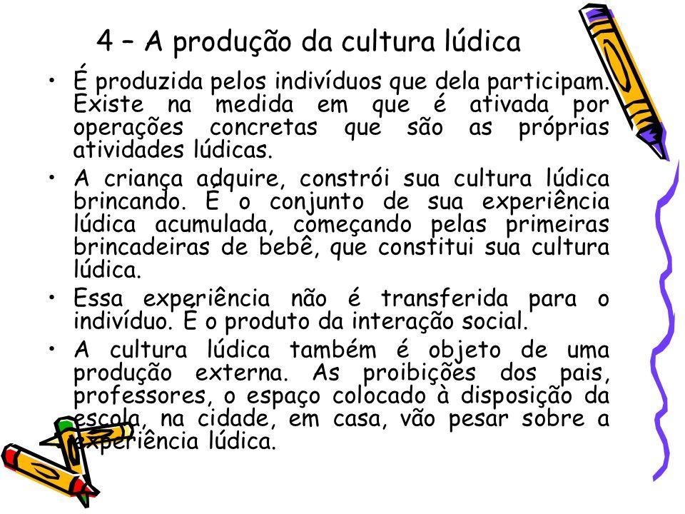 4 – A produção da cultura lúdica