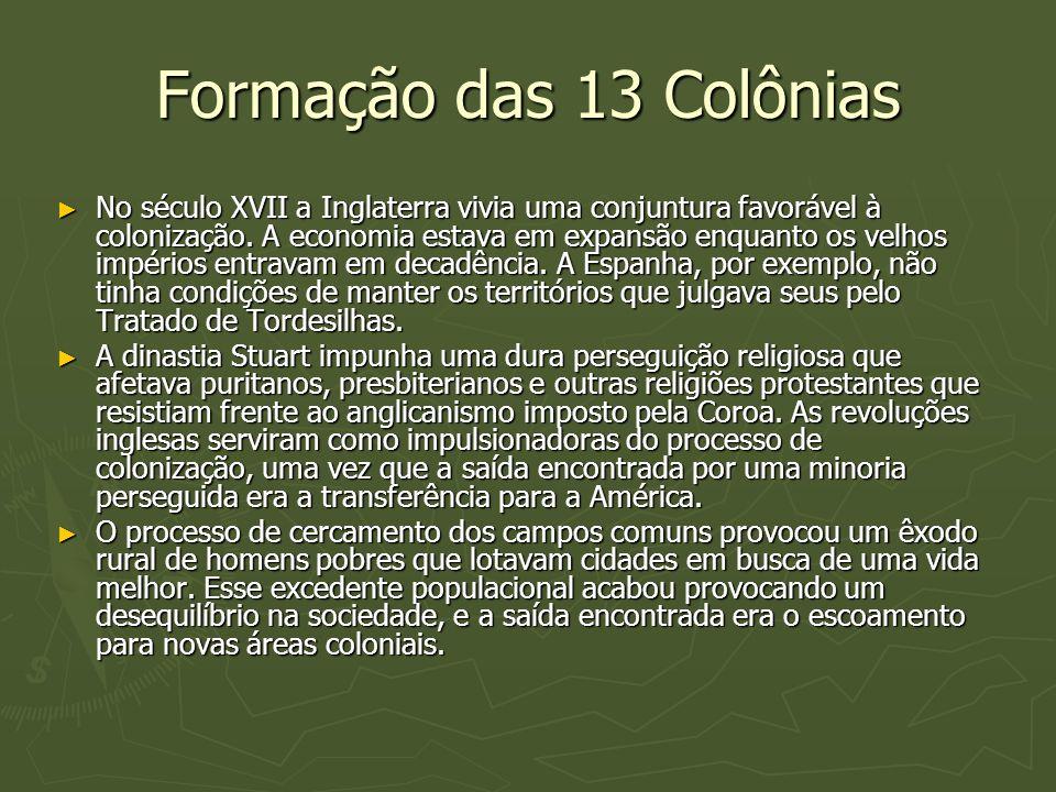 Formação das 13 Colônias