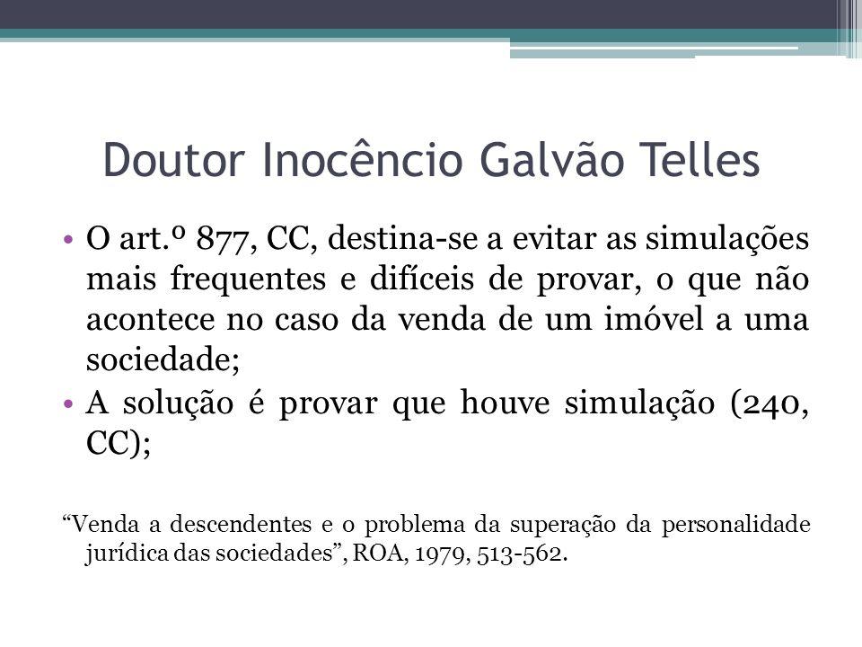 Doutor Inocêncio Galvão Telles