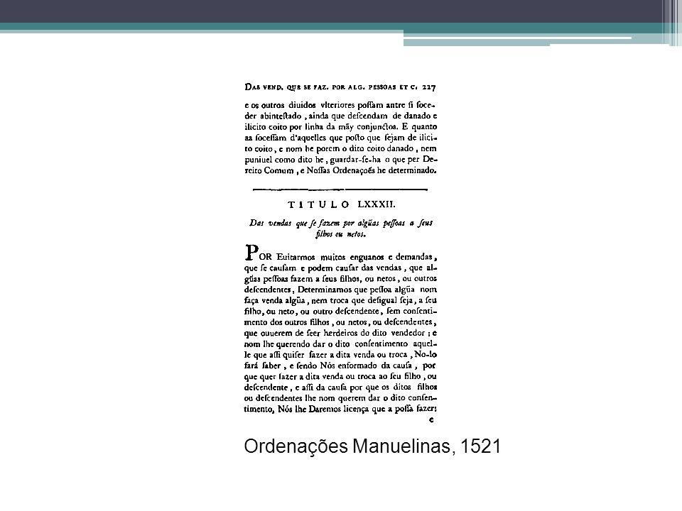 Ordenações Manuelinas, 1521