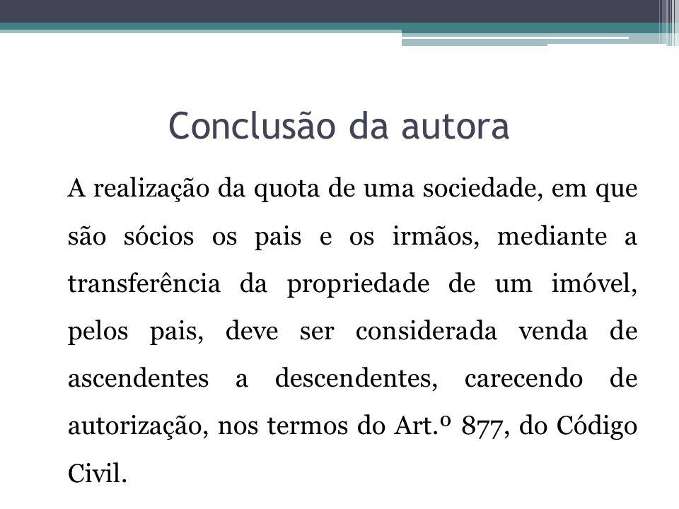 Conclusão da autora