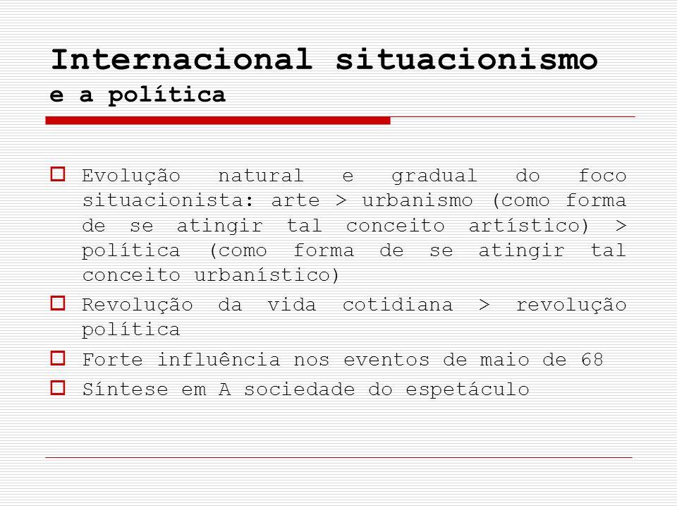 Internacional situacionismo e a política