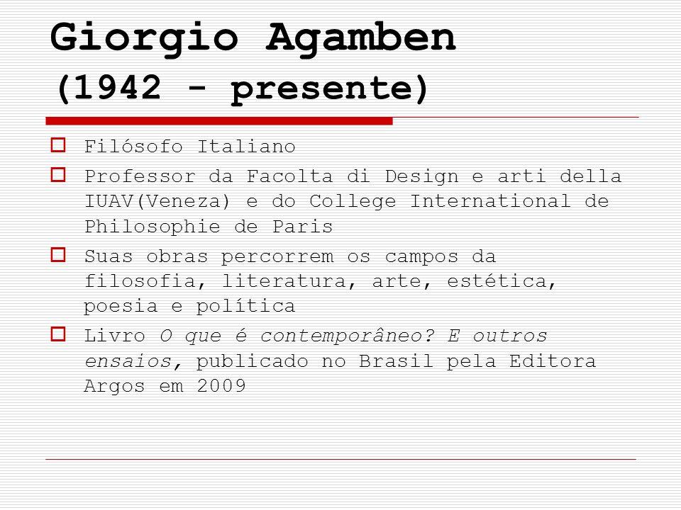 Giorgio Agamben (1942 - presente)