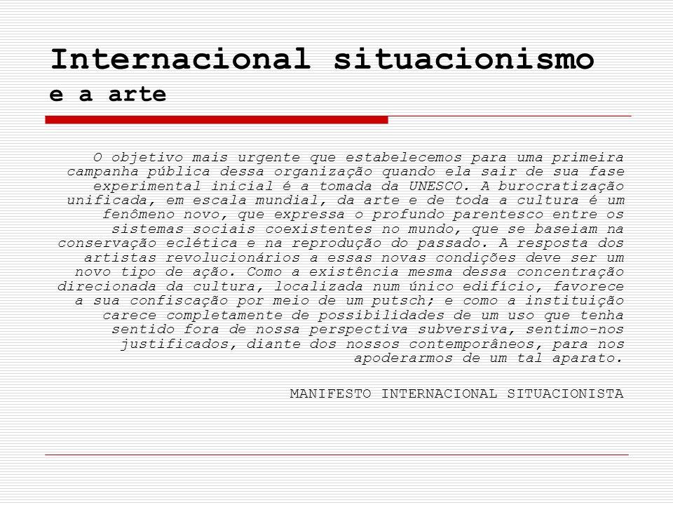 Internacional situacionismo e a arte