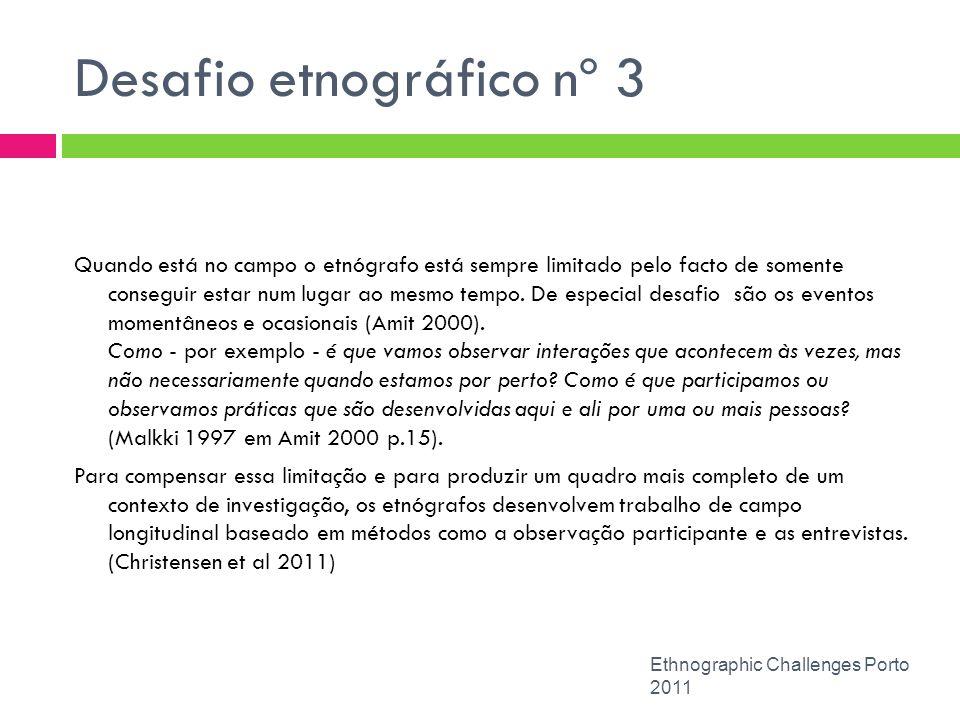 Desafio etnográfico nº 3